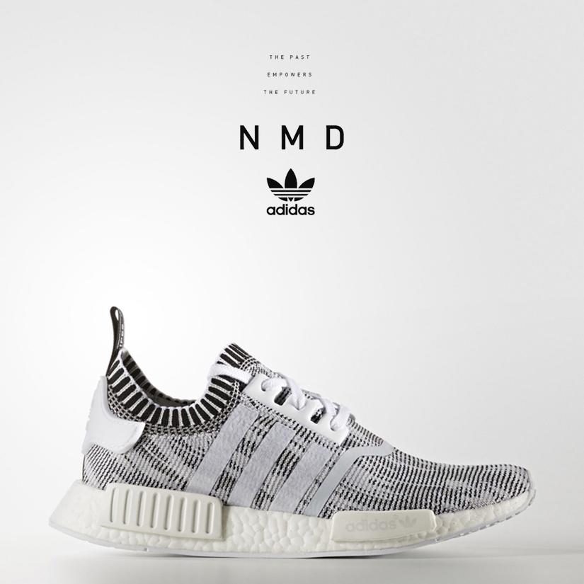 "21b21fdcb9437 Adidas NMD R1 Primeknit ""Grey Glitch Camo"" BY1911 Ftwr White Ftwr  White Core Black"