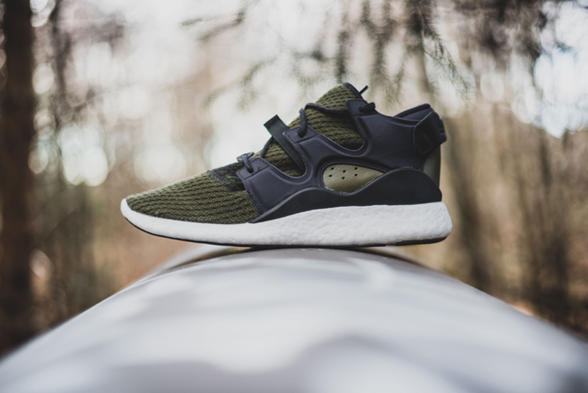 check out 45aca ef347 Primeknit uppers and white BOOST midsole grace these four futuristic  iterations. Whilst synthetic side panels, a moulded heel stabiliser, a two  layer tongue ...