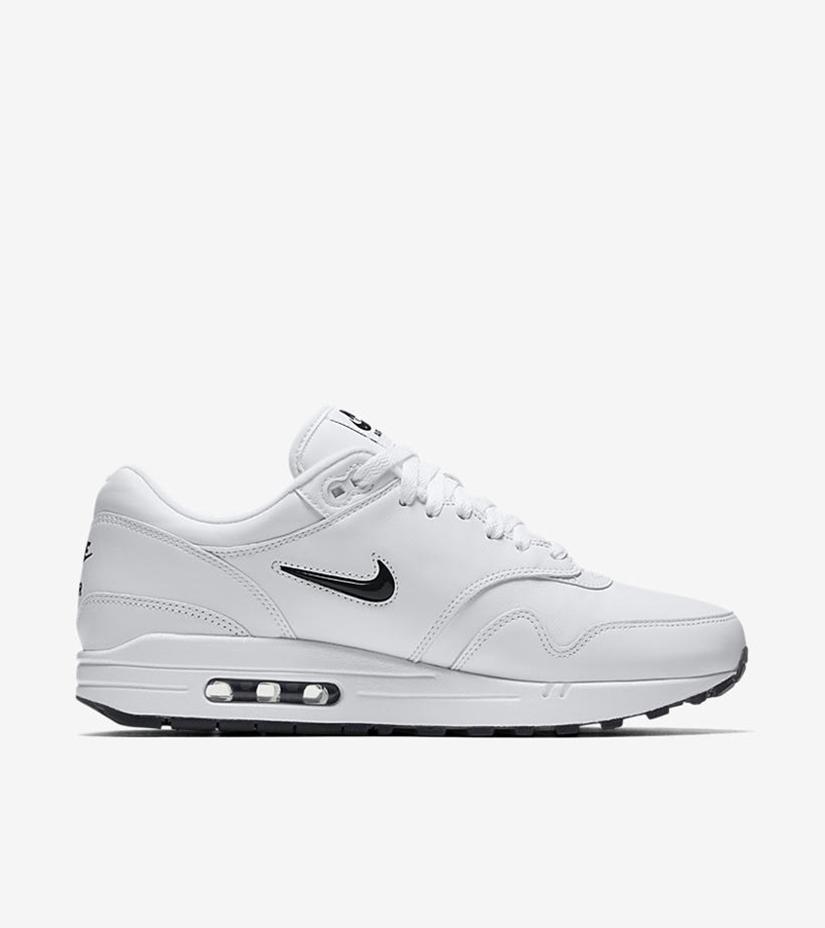 """sports shoes 2ed18 677e0 Nike Air Max 1 Premium Jewel """"Black Diamond"""" 918354-103. WHITE BLACK"""