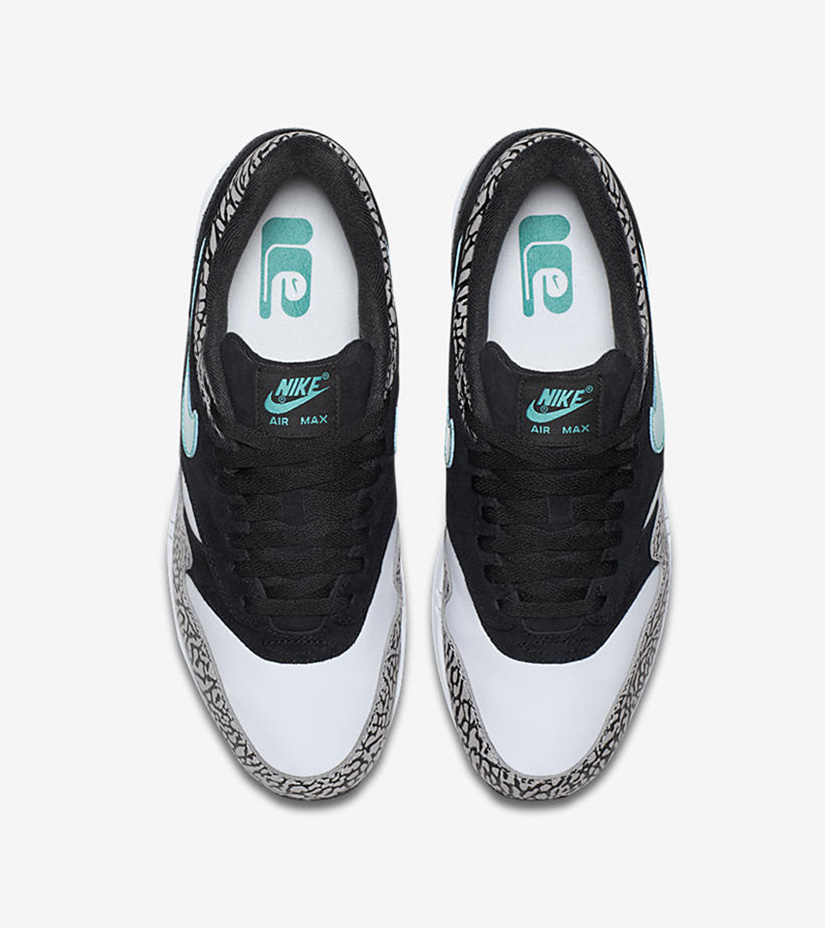ac025f8a9 Nike Air Max 1 Premium Retro x Atmos 908366-001. MEDIUM GREY CLEAR  JADE-BLACK-WHITE