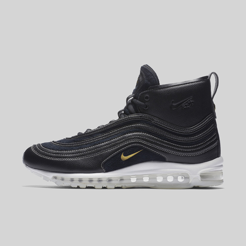 reputable site ccdf4 f9b15 Nike Air Max 97 Mid x Riccardo Tisci 913314-001. BLACK METALLIC GOLD- ANTHRACITE-WHITE