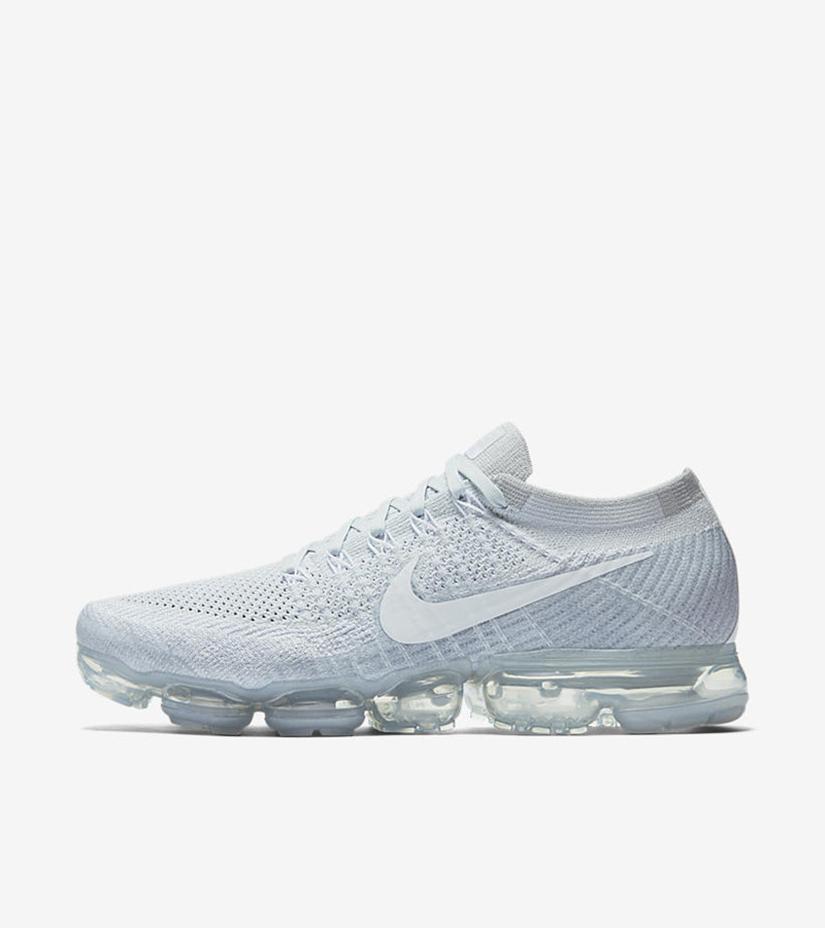 "bed9039fdd Nike Air Vapormax Flyknit ""Platinum"" 849558-004. PURE PLATINUM/WHITE-WOLF  GREY"