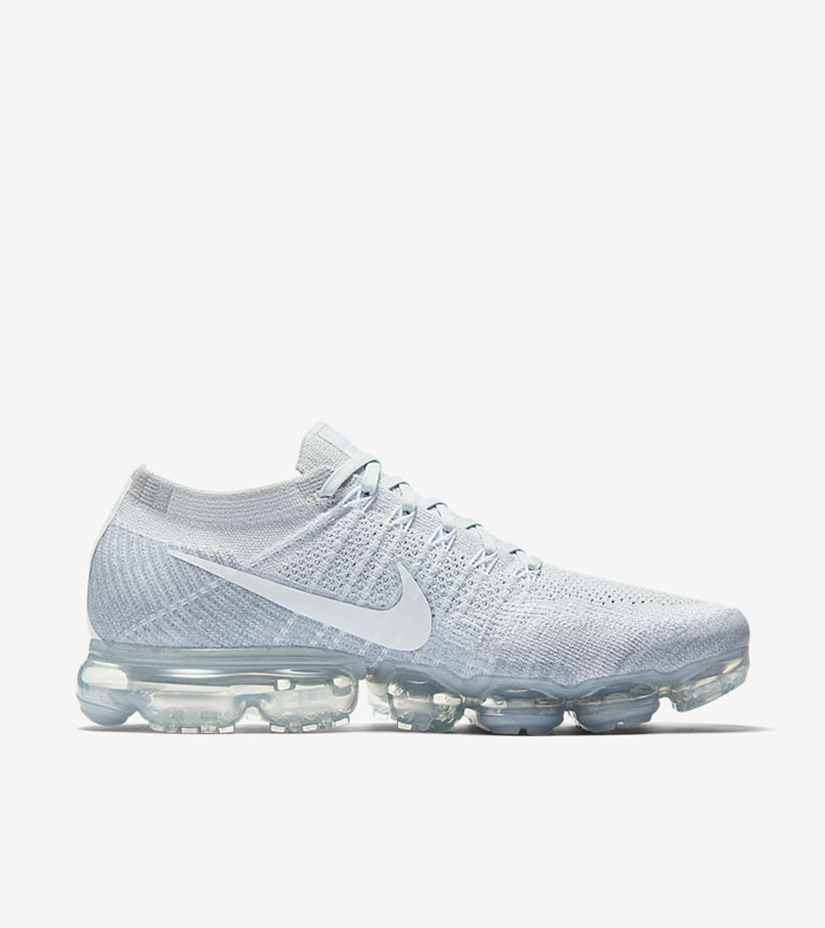 "ad7769f9f5 Nike Air Vapormax Flyknit ""Platinum"" 849558-004. PURE PLATINUM/WHITE-WOLF  GREY"