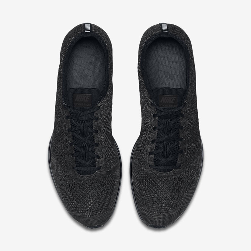 """80665d1a71f55 Nike Flyknit Racer """"Midnight"""" 526628-009. BLACK BLACK-ANTHRACITE"""