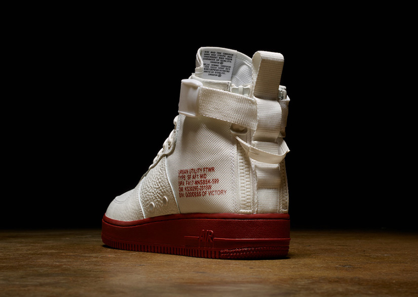 edd58d4c2861 The SF AF1 Mid takes inspiration from military functionality. The new SF  design features a mid-cut collar with a dual-heel zip for easy