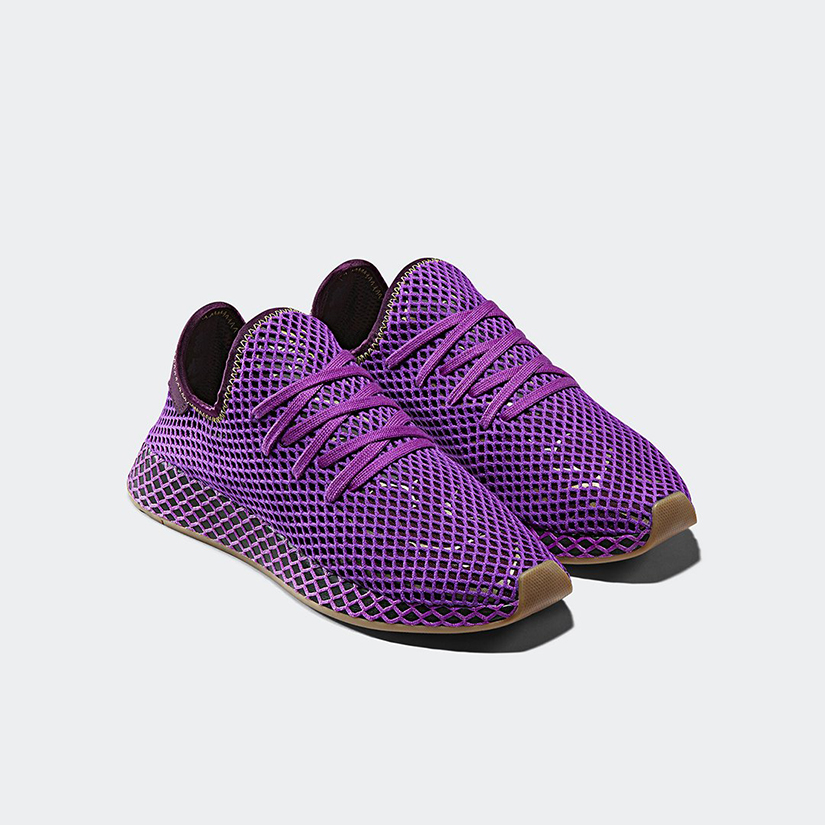 c82fdf04ffce5 The sneakers are built with a flexible mesh netting that covers the upper  and midsole for a snug
